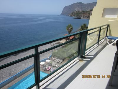 Photo for Funchal Beach hotel 3 bedroom apartment with swimming pool, fantastic sea-views