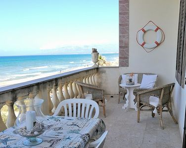 Photo for AL054A - Apartment on the beach 8 places with a view