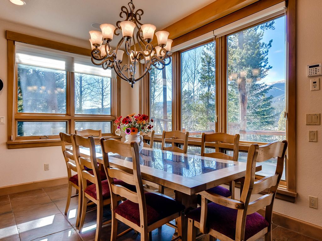 Sun drenched with views of the ski mountains from every window!