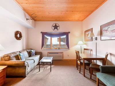 Photo for Affordable condo w/ mountain views plus a shared pool & hot tub