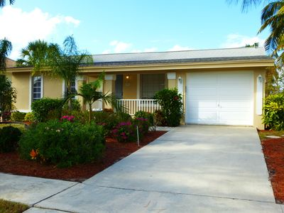 Photo for Prime location! Family/pet friendly, private pool, lanai, dock, boat lift &more.