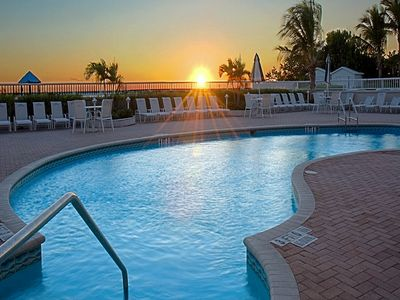 Enjoy the pool deck at sunset too.
