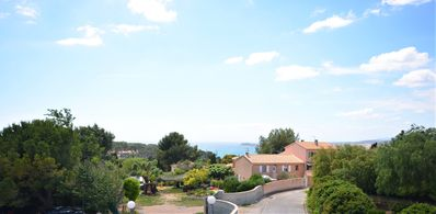 Photo for Studio with loggia sea view in residence - 3-4 pers