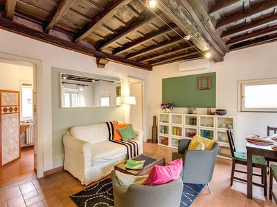 Photo for in the alive district of Trastevere, apartment with nice view on St.Maria Church