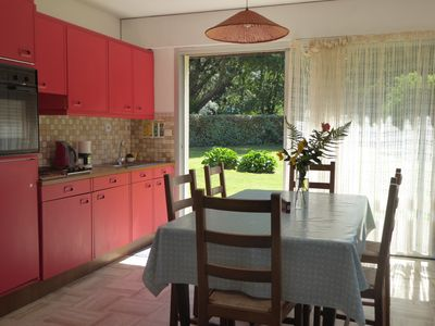 Photo for Beg Meil, Bright apartment on the ground floor, large garden, near beaches
