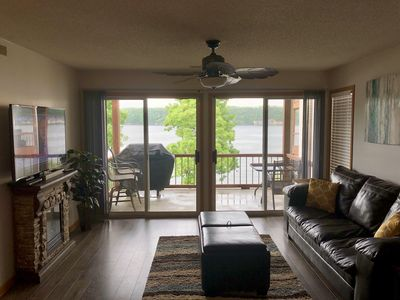 Photo for LAKEFRONT 2BR/2BA CONDO AMAZING MAIN-CHANNEL VIEWS ONLY FEET FROM THE WATER