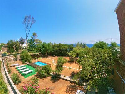 Photo for Seafront Villa with pinewood and private pool