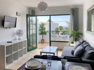 Photo for Modern fully equipped apartment with sea view,  a few minutes to the beach