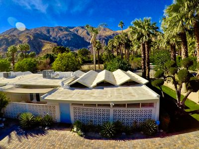 Photo for A MidCentury condo, located in downtown Palm Springs, with mountain views!