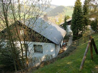 Photo for Quiet and spacious apartment with stunning views in Willingen