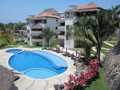 Photo for Charming 2-BR, 2-BA condo - Sayulita beach 4 minutes, wow of a pool