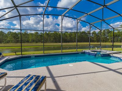 Photo for Spacious Pool & Spa House, Water View, 3 Miles to Disney! Incl Baby crib