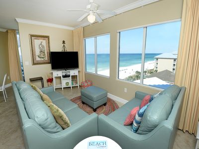 Photo for Beautiful condo ! Stunning sunset views! Free beach service! Fitness center on-site!