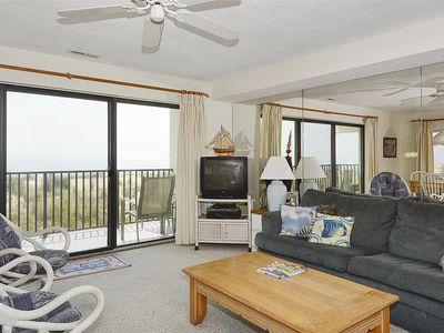 Photo for FREE DAILY ACTIVITIES!!! OCEANFRONT!! LINENS INCLUDED*! This two bedroom, 2 bath unit located on the first floor, up one level from the street