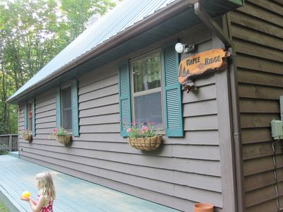 Photo for 3 bdrm/2bath 'chalet', Wooded, close to Pictured Rocks, Hiking and Trails!