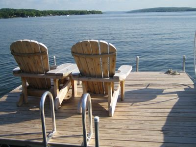 Large dock for boating, fishing & sipping your favorite beverage