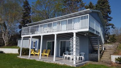 Photo for May special! Beautiful West Bay house-kayaks, A/C, Wifi, sleeps 10, view!
