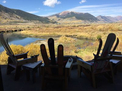 Photo for Expansive mountain views on the Slate River