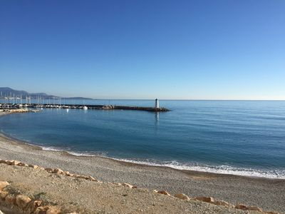 Photo for Upscale apartment waterfront Marina Baie des Anges