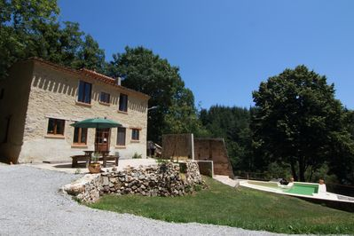 The gite, terrace and pool