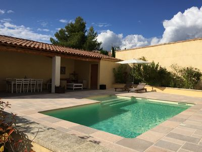 Photo for At the foot of the Luberon, beautiful Provencal house with pool and views of the Luberon