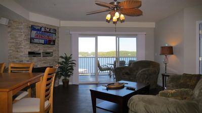 Photo for Spectacular Main Channel View Osage Beach Lakefront Condo 5th Floor W/Elevator!!