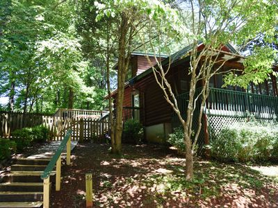 Photo for Ultimate Shady Retreat, Fenced for pets, hot tub in screened porch. - Free Wifi!