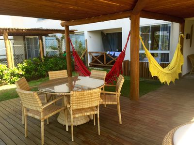 Photo for Paraiso dos Corais - Ground floor with exclusive pergola - Full East and Sea View