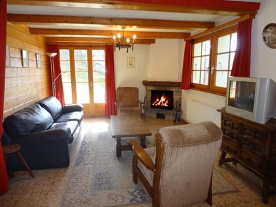 Photo for Apartment on the ground floor of an individual chalet, 500 meters away from the ski lifts.