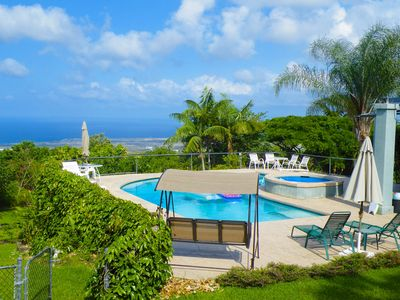 Photo for Spectacular !!  Private Pool & Hot Tub - 180 degree Ocean View; U pick Orchard