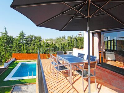 Photo for This 4-bedroom villa for up to 8 guests is located in El Vilar D'Aro and has a private swimming pool