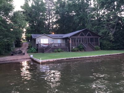 Photo for Lakeside Retreat: Boat Ramp, Screen Porch, Fish, kayak, WiFi, and Cable