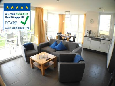 Photo for Lighthouse 11 - Modern comfortable apartment with side sea view, beach chair