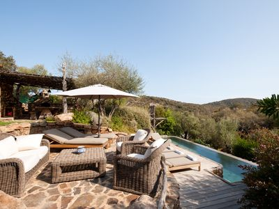 Photo for Contemporary sheepfold with private heated pool 5 minutes from Palombaggia