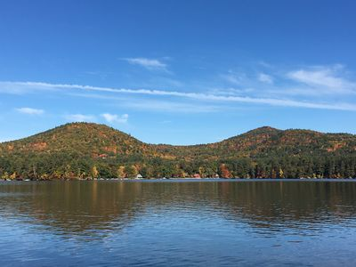 Fall view of Mt. Cotton and Mt. Livermore from our dock