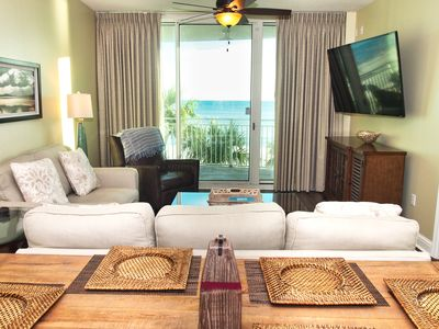 Photo for 2019 Aqua Platinum-Rated Condo, 2 Beach-Front Bedrooms, Low-Floor, Fab Views!