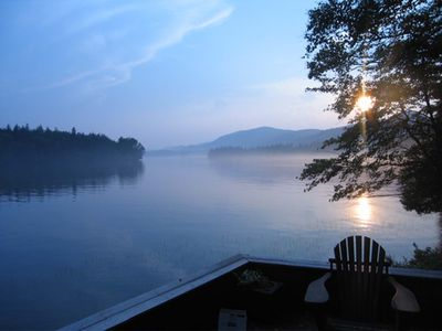 Photo for 4 Bedroom Adirondack Lakefront Property, Available Sept & October only
