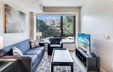 Photo for High-End 2BR | Full Kitchen & Laundry | Capitol Riverfront