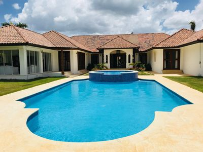 Photo for Gorgeous Contemporary Villa located on the 1st hole of the Dye Fore Golfcourse