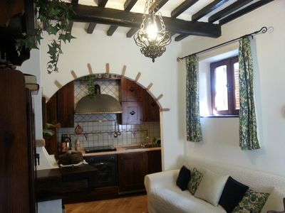 Photo for Romantic Hideaway. Medieval Hilltop Village-Tuscan Island, Beaches only 10mins.