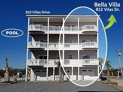 Photo for 5 Bedroom Oceanfront with Pool on North Topsail Beach, North Carolina