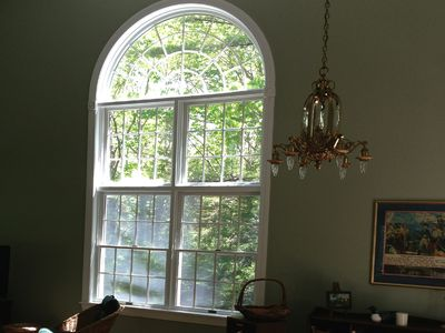 Large Living Room Window from Kitchen