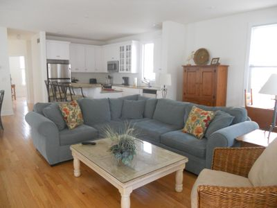 Spacious and open living area.