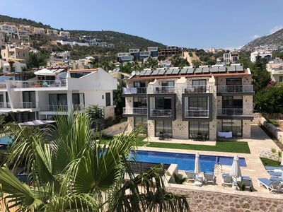 Photo for Stonehouse Apparts Kalkan 1+1 with garden terrace No.1