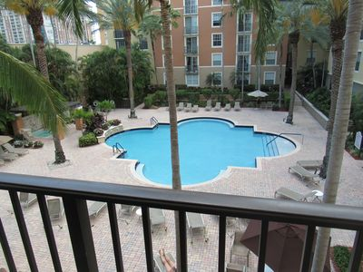 Photo for Courtyard at Cityplace condo with beautiful pool view and 2 bedrooms 2 baths