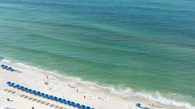 beach as seen from the unit 2108 Balcony.