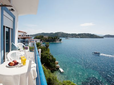Photo for Apartment With Sea View Balcony In Skiathos Old Town