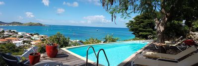 Sea view - Superb villa on the heights of Grand Case -