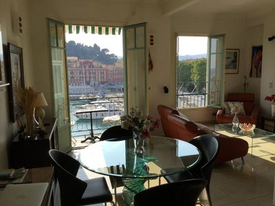 Photo for Port of Nice -  Fantastic apartment in Nice harbor