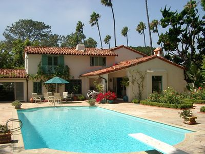 Spanish Style Villa, Pool, Walk to Beach, Romance & Charm!